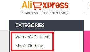 choose clothes category